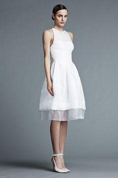 Such a chic short wedding dress! J. Mendel, Spring 2015