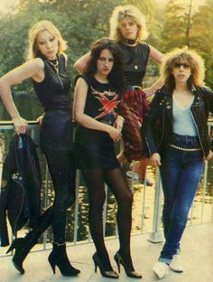 See Girlschool pictures, photo shoots, and listen online to the latest music. 80s Rock Fashion, Heaviest Woman, Heavy Metal Rock, Heavy Metal Girl, 80s Hair Bands, Rocker Girl, Rock Of Ages, Gothic Rock, Thrash Metal