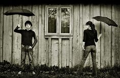 black and white umbrellas would be cute