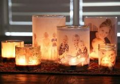 Hodge podge pics to glasses and or mason jars for candle presents