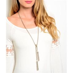 BOGO 50% Lariet Tassel Necklace Goes with pretty much everything. It's adjustable. Please do not buy this listing. Comment when you're ready to purchase and I'll make you a new listing! Jewelry Necklaces