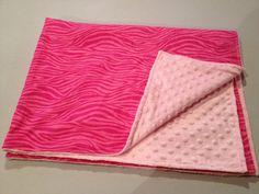 Pink Zebra Minky Baby Blanket zebra print by StarBoundHorses