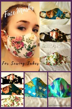 For Sewing Sakes Masks - Favorite the shop for off Best Picture For diy face mask sewing pattern For Your Taste You ar - Diy Mask, Diy Face Mask, Sewing Patterns Free, Free Sewing, Sewing Hacks, Sewing Tutorials, Mouth Mask Design, Mouth Mask Fashion, Fashion Mask
