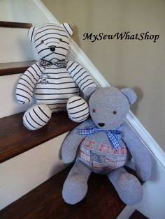 I love the idea of being able to carry a loved one with you. These one of a kind memory bears are perfect for those who have had a loved one pass