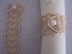 Your place to buy and sell all things handmade crochet napkin rings by on Etsy Napkin Folding, Diy Rings, Filet Crochet, Crochet Accessories, Napkin Rings, Crochet Projects, Tatting, Diy And Crafts, Napkins
