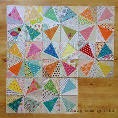 crazy mom quilts: kaleidoscope quilt in progress