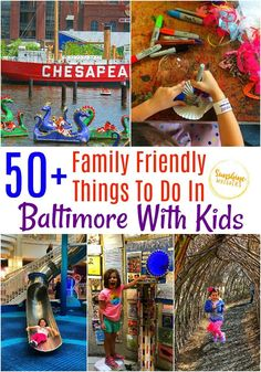 Here are over 50 family-friendly things you can do in Baltimore with your kids from Sunshine Whispers. Check these things out. If you have young kids especially because they will have a blast! Enjoy going through the list to find out what you and your kids enjoy doing together! #Baltimore #Marylandwithkids #kidfriendlymaryland #kidfriendly #Maryland #travel #parentingtips I Want To Travel, Travel With Kids, Family Travel, Family Vacation Destinations, Travel Destinations, Vacation Ideas, Stuff To Do, Things To Do, Baltimore