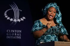 """Leymah Gbowee, one winner of the 2011 Nobel Peace Prize for """"non-violent struggle for the safety of women and for women's rights to full participation in peace-building work."""" Gbowee, a Liberian, led a peace movement that ended the Second Liberian Civil War in 2003."""