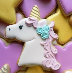 How to Decorate a Unicorn Cookie