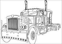 optimus prime truck coloring pages enjoy coloring - Optimus Prime Truck Coloring Page