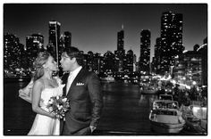 Veronika & Victor - what a backdrop for your wedding.  Mystic Blue Cruises