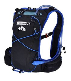 Hydration Pack For Running Hiking Biking  Lightweight Compact Backpack Fits Up To 38 ChestWaist  FrontSide Pockets Adjustable Chest  Shoulder Strap * Click image for more details.