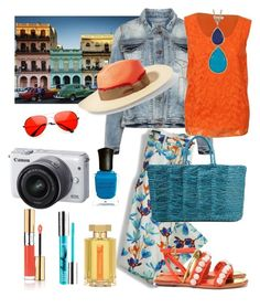 """Cuba"" by confusioninme ❤ liked on Polyvore featuring Studio, Lands' End, Calvin Klein, Tory Burch, Sensi Studio, Yves Saint Laurent, Karen Kane, PurMinerals, Deborah Lippmann and Canon"