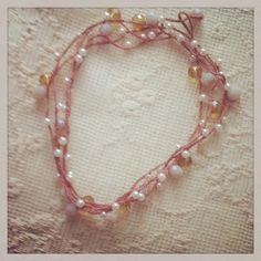 romantica. perle. tre giri per un girocollo.