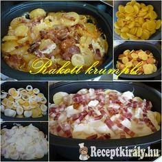 Rakott krumpli kicsit másképp Homemade, Chicken, Meat, Food, Beef, Home Made, Diy Crafts, Meals, Hand Made