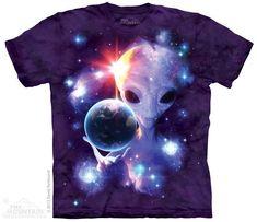 SPACE ALIEN UFO funny present Mens Womens T SHIRT TOP size 10 12 14 s m l xl xxl