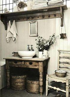badezimmer gestaltung holztäfelung shabby chic #shabbyvintage