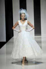 50er Jahre Hochzeitskleid komplett in Spitze