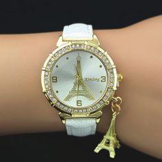 2015 Hot Sale New Fashion Women Quartz Wrist Watch PU Leather Tower Rhinestones Watch New Fashion, Womens Fashion, Paris Eiffel Tower, Michael Kors Watch, Gold Watch, Pu Leather, Gifts For Her, Quartz, Ladies Watches