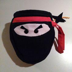 Climbing ninja #chalkbucket #chalkbag #ninja #handmade #handmadechalkbags #lastecucesempre #oneofakind