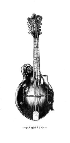 """""""Hello real life. How've you been?  Back to work today means drawing a mandolin."""""""