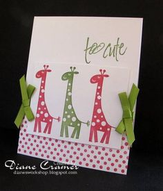 Another cute baby card...