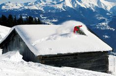 the roof, the roof, the roof is on powder ;]