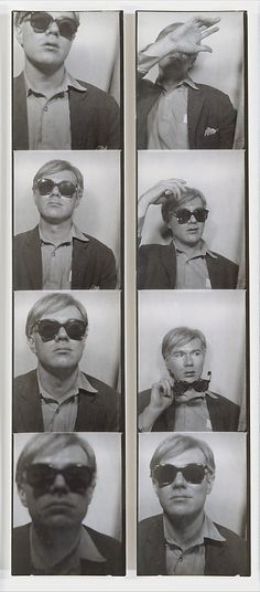 Andy Warhol, Photobooth Self-Portrait ca. 1963. http://www.metmuseum.org/Collections/search-the-collections/190019240#