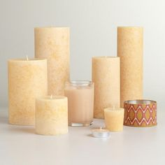 I hope this smells like a candle, the scent of which I really, really loved >>> One of my favorite discoveries at WorldMarket.com: Indian Sandalwood Candles