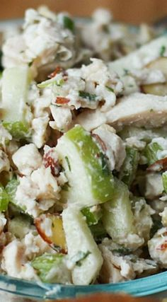 Autumn Rotisserie Chicken Salad with Apples and Almonds