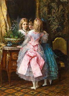 Eugene Joseph Lejeune (1818-1897) - In Their Fanciest Dresses