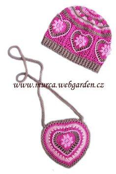 Crochet Purse Ravelry: Project Gallery for Grandma's heart pattern by Carola Wijma - Crochet Kids Hats, Crochet Cap, Crochet Girls, Crochet Purses, Love Crochet, Crochet Scarves, Crochet Crafts, Crochet Clothes, Crochet Projects