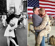 A photo of a Marine kissing his boyfriend upon returning home from a tour of duty is going viral with more than 15,000 likes and 3,000 comments on Facebook. The photo, which shows Marine Brandon Morgan locked in a romantic embrace with his boyfriend was initially posted on the Facebook page Gay Marines, where it was met with a great deal ofenthusiasm.