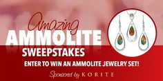 Win a ammolite earring and pendant set worth $599.00! The luminous color in each ammolite gemstone is unique. Bring out your true colors by entering this jewelry sweepstakes for a chance to win!