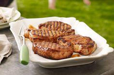 recette de Côtelettes de porc grillées bien relevées