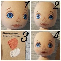 Sewing a Fabric Doll on Your Own – a free tutorial on the topic: Dolls ✓DIY ✓Steps-By-Step ✓With photos Little Girl Crafts, Crafts For Girls, Doll Clothes Patterns, Doll Patterns, Doll Eyes, Sewing Dolls, Doll Tutorial, Doll Maker, Waldorf Dolls