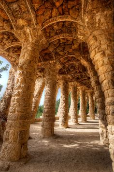 A Path of Shadows (architect Antoni Gaudi's structures at Park Guell, Barcelona). Photo by Elia Locardi