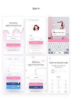 Fludish — Fluent iOS UI Kit designed for Sketch. on Behance Android App Design, Ios App Design, Iphone App Design, Mobile Ui Design, Form Design Web, Fluent Design, Wireframe Design, Human Centered Design, App Design Inspiration