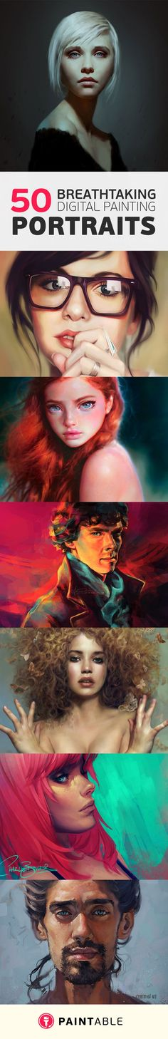 50 Breathtaking Digital Painting Portraits for your Inspiration! By paintable.cc