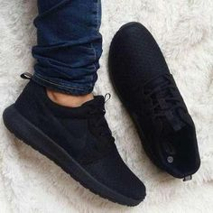 reputable site 8cce5 08b5b Tenis Zapatillas Nike Roshe Negras Para Hombre Y Mujer Nike Negros Hombre,  Hombre Mujer,