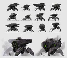 Mech Sketches by ~fightpunch on deviantART ✤ || CHARACTER DESIGN REFERENCES | Find more at https://www.facebook.com/CharacterDesignReferences if you're