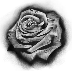 Tattoo Design| Rose by badfish1111.deviantart.com on @deviantART