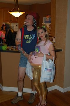 """Probably our BEST Halloween costume ever... we went as """"ThePeopleofWal-Mart.com"""""""