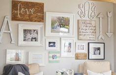 Paddington Way.: Gallery wall + DIY industrial coffee table.