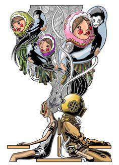VINTAGE DIVER on Behance Princess Zelda, Graphic Design, Illustration, Mugs, Comics, Anime, Poster, Fictional Characters, Vintage