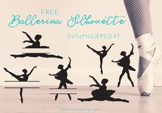 Ballerina Monogram Free SVG, PNG, EPS, DXF free cut files, compatible with Cricut, Cameo Silhouette, and other major cutting machine. Ballerina Monogram
