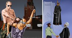 Satirical Illustrations Reveal How World Leaders See Justice | Bored Panda