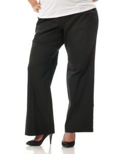 Motherhood Maternity Plus Size Petite Secret Fit Belly(r) Twill Maternity Pants