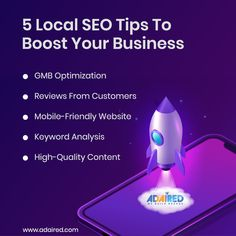 Local SEO can boost📈 your business🏢. Many things come under this concept, and 👉here are five🖐 tips that you should keep in mind🧠 while focusing🧐 on Local SEO. Contact☎️ AdAired for the most excellent Local SEO practices or call📞 us at +91 89074 00008.  . . . #localseo #searchengineoptimization #seotips #seoservices #seochangbin #seoconsultant #searchenginemarketing #social_marketing #socialmediatips #socialmediamarketing #marketinglife #websitetraffic #webdesign #websitedevelopment