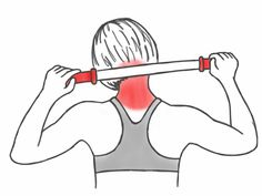 Soft Tissue Therapy - Massaging the Neck and Trapezius Muscles with the Stick Neck And Shoulder Exercises, Posture Exercises, Neck And Shoulder Pain, Shoulder Workout, Shoulder Tension, Trapezius Stretch, Postural, Muscle Stretches, Trigger Point Therapy